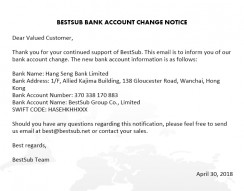 Bestsub Bank Account Change Notice