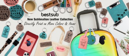 New Colorful Sublimation Leather Collection!