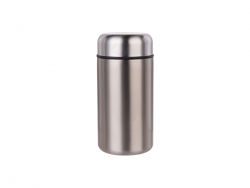 16oz/480ml Stainless Steel Food Jar (Silver) MOQ:500