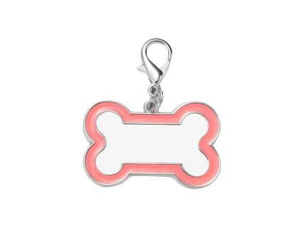 Sublimation Dog Tag (Pink Edge, 3*4.5cm)