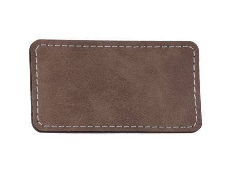 Sublimation PU Leather Badge Name Tag (Gray, Big Rectangle)
