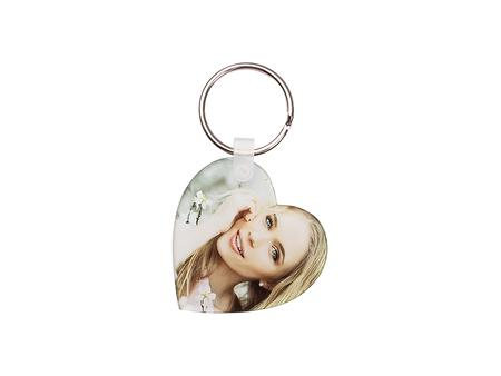 Sublimation Acrylic Keyring (Heart, 5*5*0.4cm)