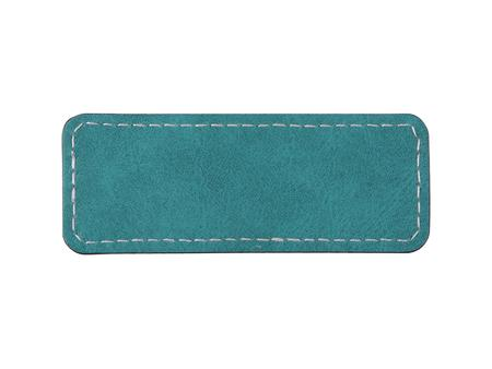 Sublimation PU Leather Badge Name Tag (Green, Small Rectangle)