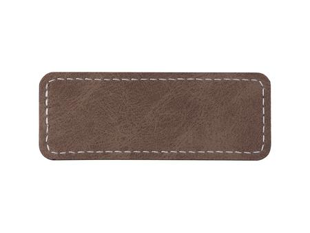 Sublimation PU Leather Badge Name Tag (Gray, Small Rectangle)