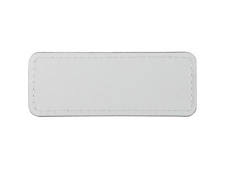 Sublimation PU Leather Badge Name Tag (White, Small Rectangle)