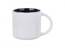 14oz Two-Tone Color Mug (Black)