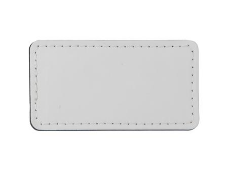 Sublimation PU Leather Badge Name Tag (White, Big Rectangle)