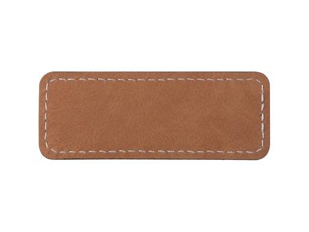 Sublimation PU Leather Badge Name Tag (Brown, Small Rectangle)