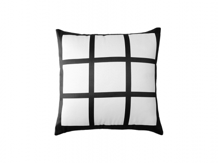 "Sublimation Blanks 9 Panel Pillow Cover (45*45cm/17.8""x17.8"")"