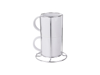 2 Piece 8oz Stackable Mug Set