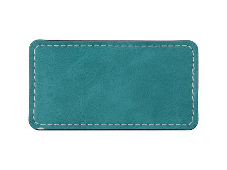 Sublimation PU Leather Badge Name Tag (Green, Big Rectangle)