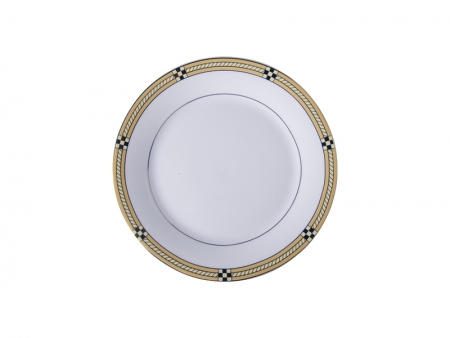 "8"" Rim Plate w/ Golden Pattern"