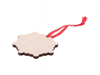 Sublimation Plywood Christmas Ornament (Snowflake)