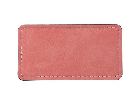 Sublimation PU Leather Badge Name Tag (Pink, Big Rectangle)