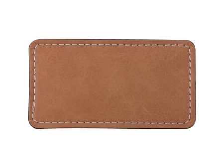 Sublimation PU Leather Badge Name Tag (Blue, Big Rectangle)