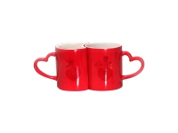 Sublimation 11oz Couple Changing Color Mugs(Red)